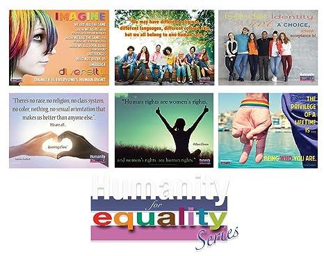 Amazon.com: Humanidad para la igualdad Conjunto de 6 ...