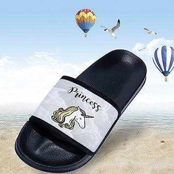 d4173f1746ed9 Amazon.com: CoolBao Stylish Beach Sandals unicorn for Women Anti ...