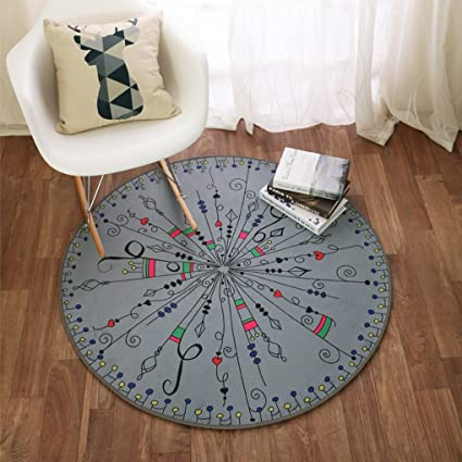 Edge To Carpet Rug Round Rug Music Musical Note Rug Living Room Hanging Rugs  Carpet Mats