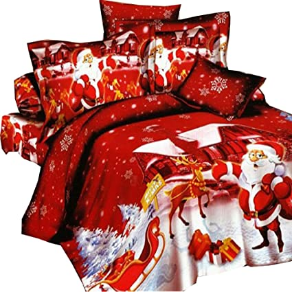 Christmas Bedding Sets Queen.3d Oil Red Christmas Kids Duvet Cover 1pc Duvet Cover 1pc Bed Sheet 2pc Pillowcase 100 Cotton King Queen Size Christmas Bedding Sets Queen Full