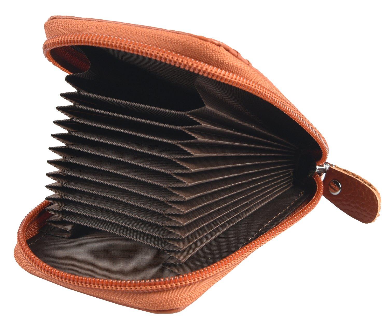 ecfb69ece7 Portafoglio in pelle per carte di credito da uomo e da donna. Portafoglio  in pelle per 12 carte blu HXT02A04