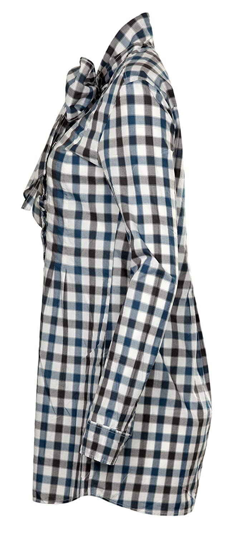0039 Italy Women Blouse black/blue/white Scarlett 221037-0005