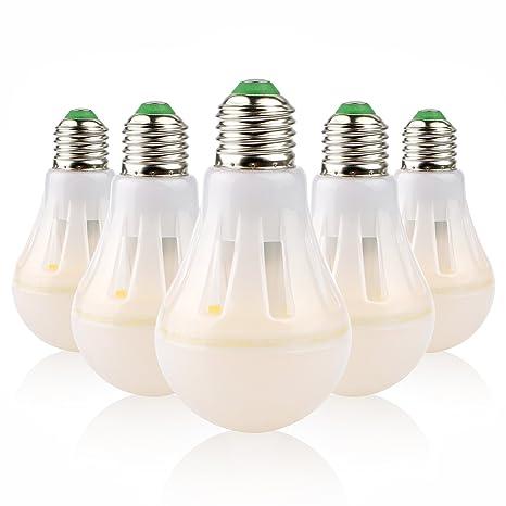 Starker Bombilla LED (E27, 8W equivalente a 60W, pack de 5 unidades,