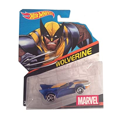 Hot Wheels, Marvel Character Car, Wolverine #7, 1:64 Scale: Toys & Games