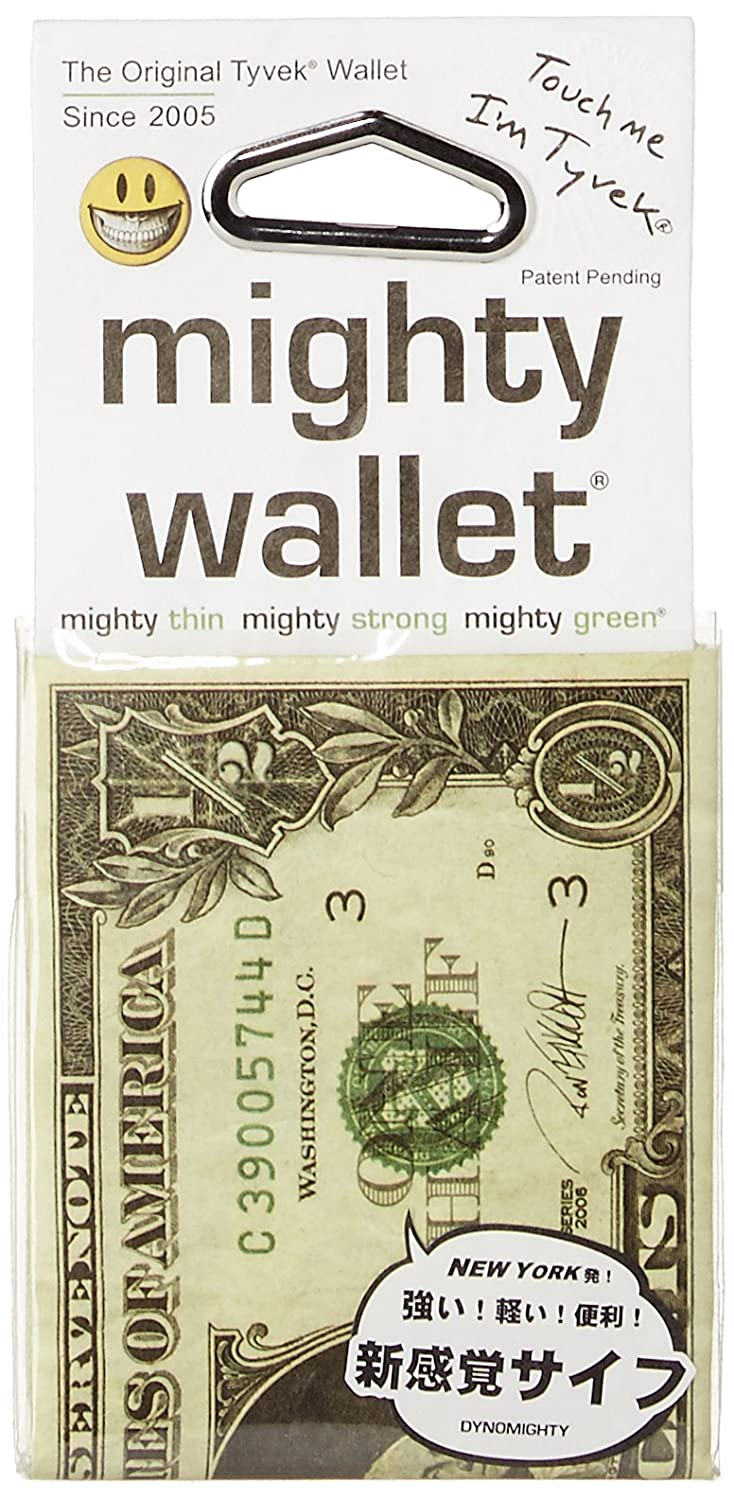 Mighty wallet Men's Half Dollar Mighty Wallet - Super Thin Lightweight Tyvek Billfold Dynomighty DY-585