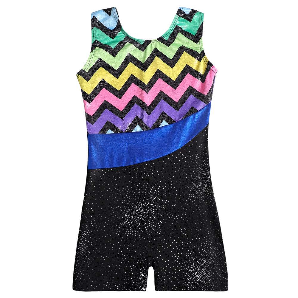 Dance Leotards for Girls Gymnastics Shorts Ballerina Skirts Outfits Skirted Ballet Unitard Biketard Athletic Costumes 3-7 Yrs