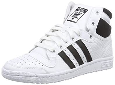 huge discount d7fb7 a9034 adidas Originals Women s Top Ten Hi W White and Black Leather Sneakers - 4  UK  Buy Online at Low Prices in India - Amazon.in