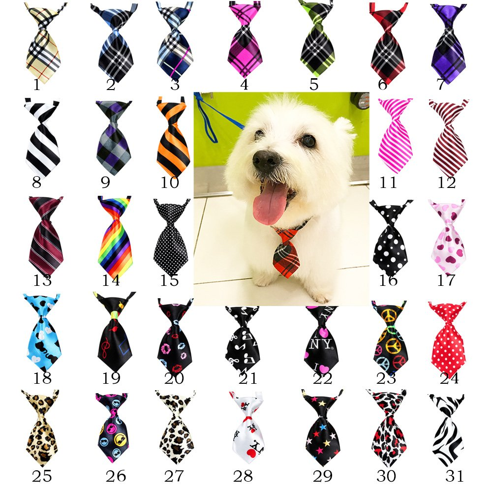yagopet 30pcs New Pet Dog Neckties Dog Ties Adjustable Pet Grooming Products Dog Accessories by yagopet