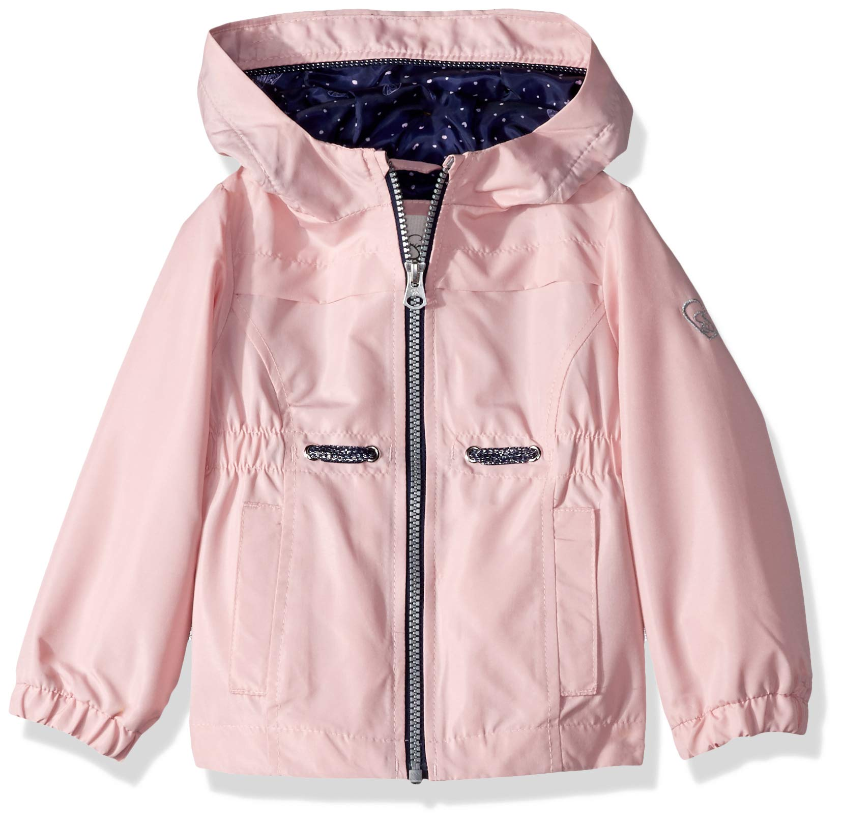 Jessica Simpson Girls' Toddler Lightweight Anorak Jacket with Jersey Lining, Pink mesa 2T