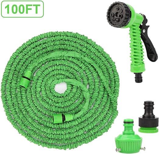 Flexible Manguera de Jardín, 100 FT 30m Manguera Extensible, Manguera Flexible Flexi Wonder Manguera de jardín Flexible con Ducha de Mano de jardín de 8 funcionesJardín Ducha de Mano (Verde): Amazon.es: Jardín