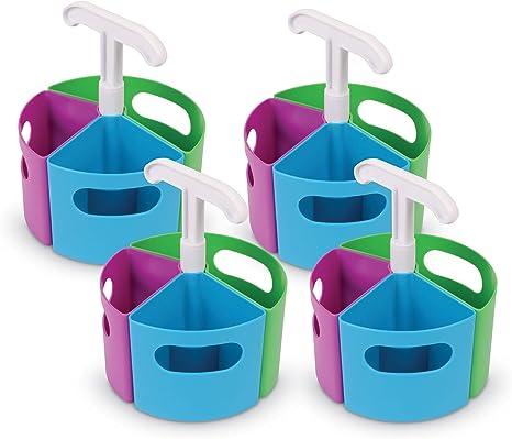 Amazon.com: Learning Resources Create-a-Space - Mini paquete de centro de almacenamiento, accesorios para la escuela en casa, se adapta a botellas desinfectantes de manos de 3 oz, organizador de profesores, almacenamiento de artesanía en el aula, almacenamiento portátil: Office Products