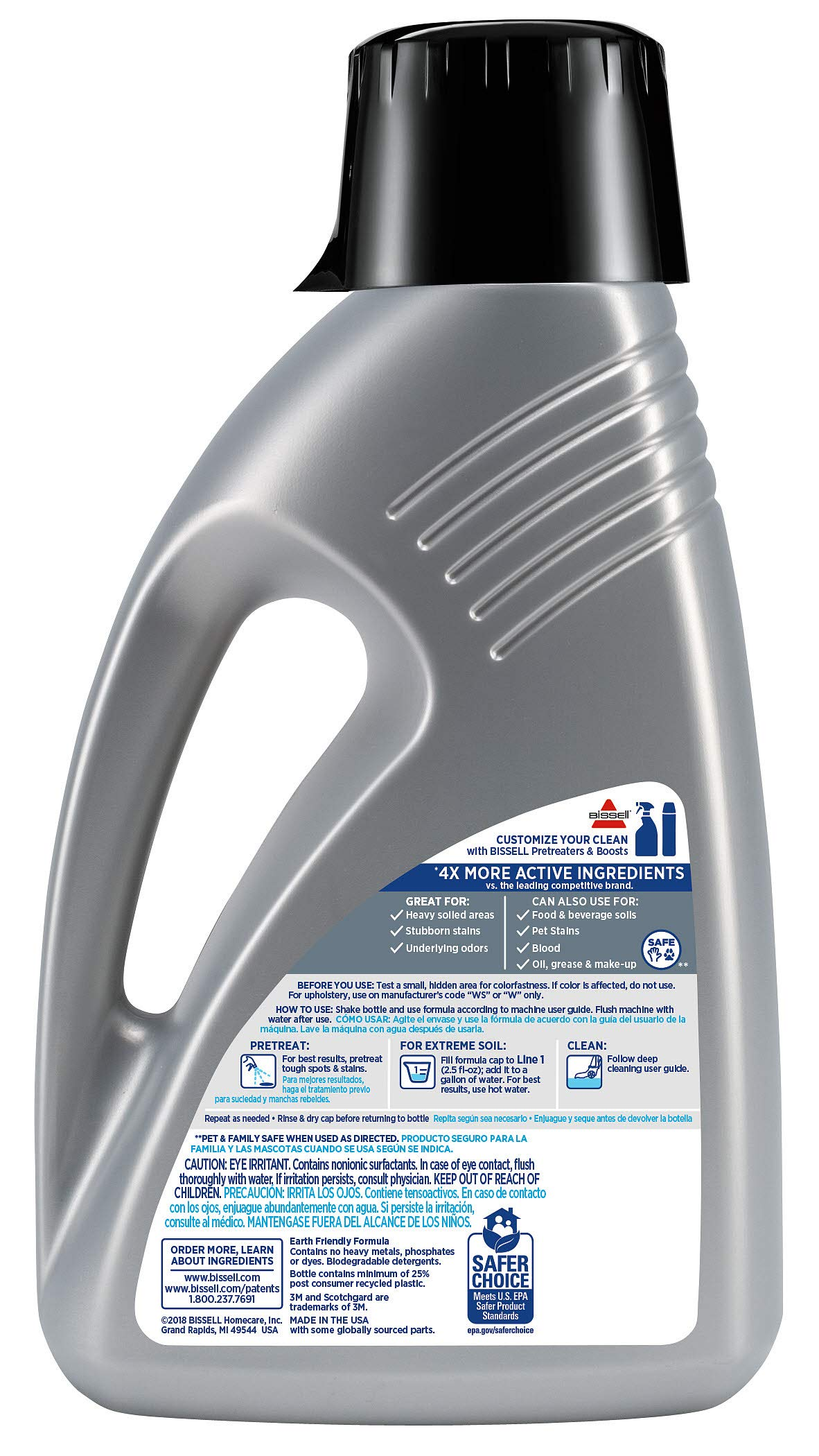 Bissell-78H63-Deep-Clean-Pro-4X-Deep-Cleaning-Concentrated-Carpet-Shampoo-48-ounces-Silver