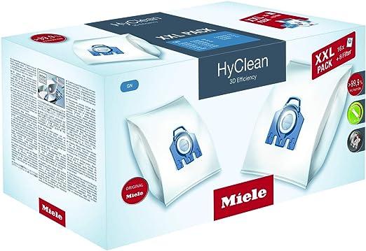 Miele GN HyClean 3D, Bolsas para aspiradora, XXL, pack de 16 +8 filtros: Amazon.es: Hogar