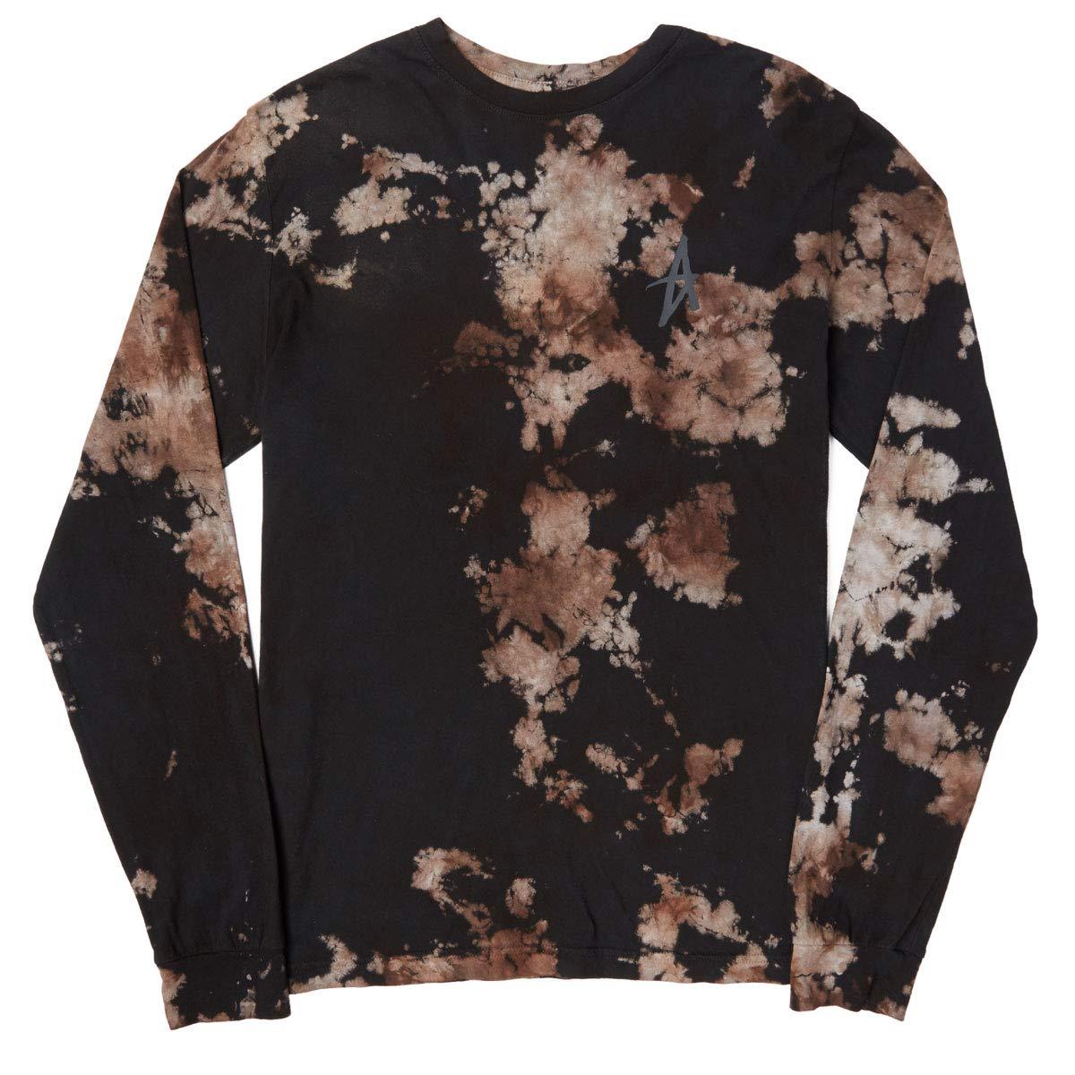 Volcom Piedra mortal básico para hombres Camiseta De Manga Larga-Negro Todas Las Tallas