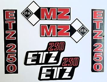 Aufkleber Set 6 Teilig Passend Für Mz Etz 250 Tank