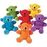 Fun Express Primary Plush Bears (1 Dozen)