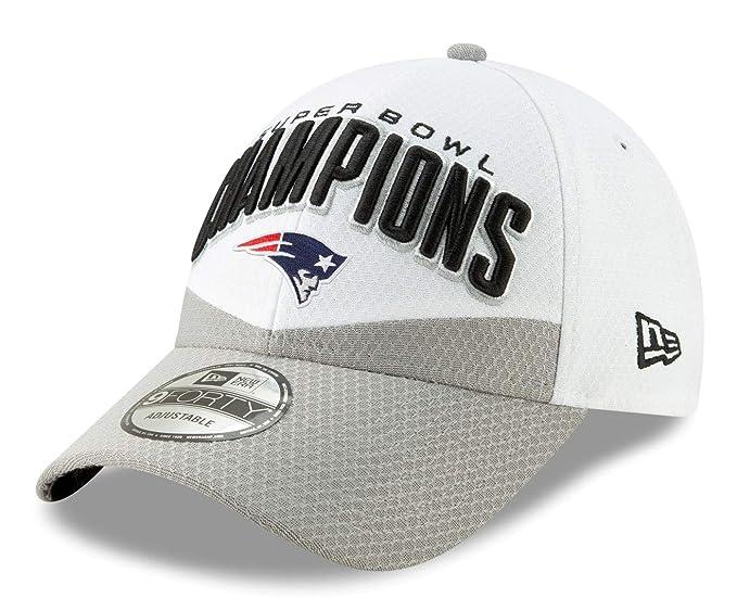 New Era NFL NEW ENGLAND PATRIOTS Super Bowl 2019 Locker Room 9FORTY Championship Cap: Amazon.es: Deportes y aire libre
