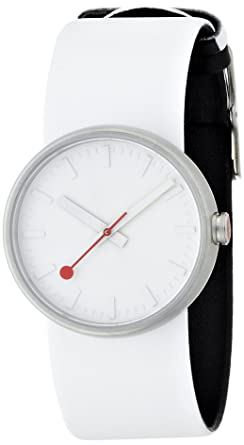 Mondaine SBB Quartz Stainless Steel And Leather Casual Watch ColorWhite
