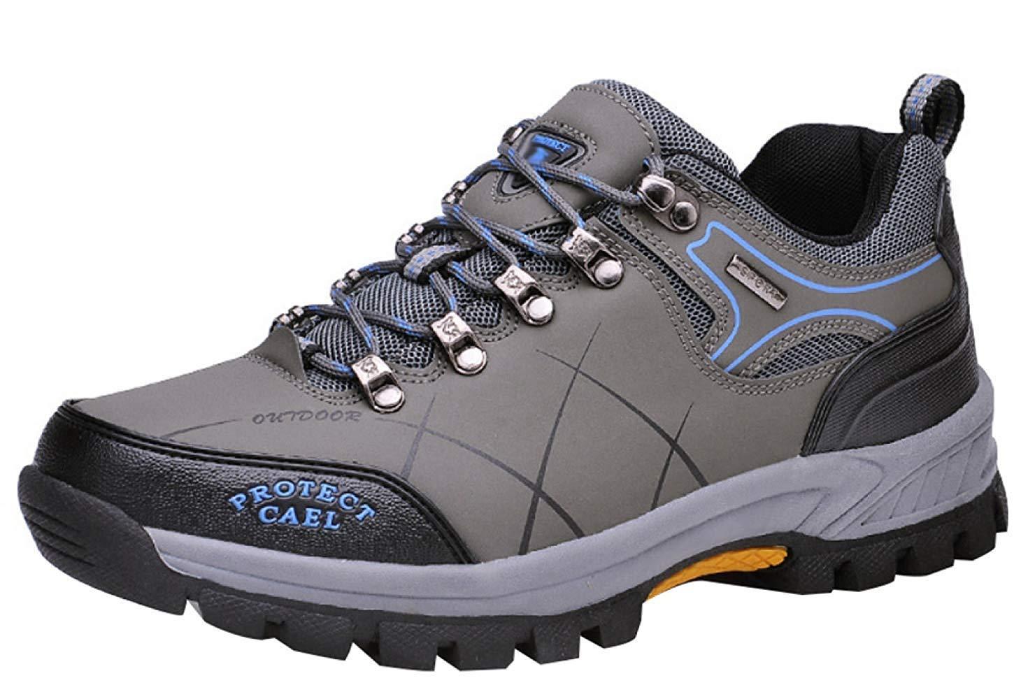 Fuxitoggo Männer Wanderschuhe Stiefel Leder Wanderschuhe Turnschuhe Für Outdoor Trekking Training Beiläufige Arbeit (Farbe   8, Größe   39EU)