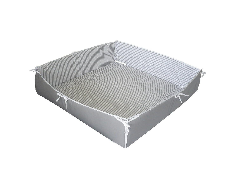 Linden 38226 Universal Playpen Bumper Striped Grey