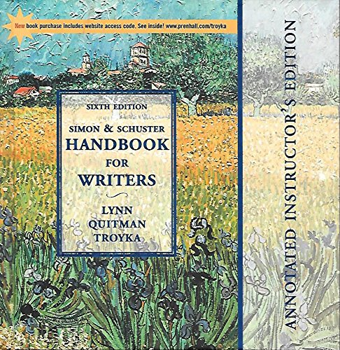 Simon & Schuster Handbook for Writers (Annotated Instructor's Edition) ebook