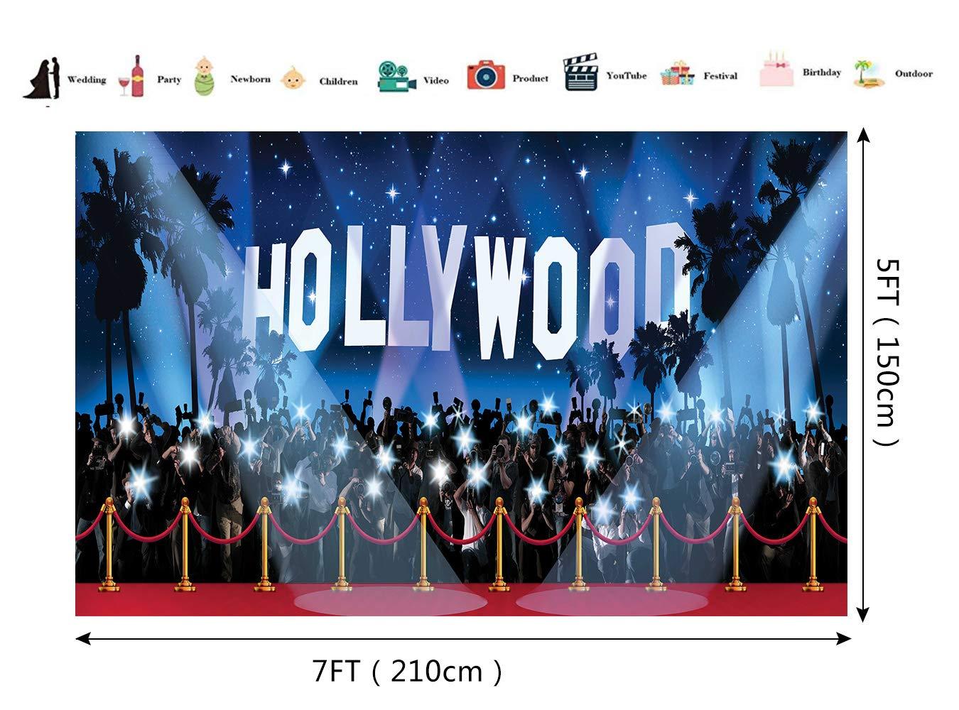 Hollywood - Fotografía de telón de Fondo de Vinilo, diseño ...