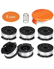 "Deyard Trimmer Spool Compatible with Black + Decker Autofeed System Replacement Durable 30ft 0.065"" Line String Trimmer (6 Replacement Spool, 1 Spool Cap, 1 Spring)"
