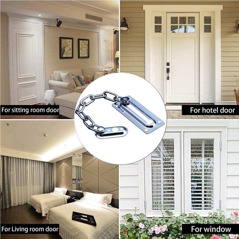 BETOY 4Pcs High Quality Front Door Chain,Door Security Chain,Door Limiters,Door Restrictors,for Safer Caller ID,Complete Home Security