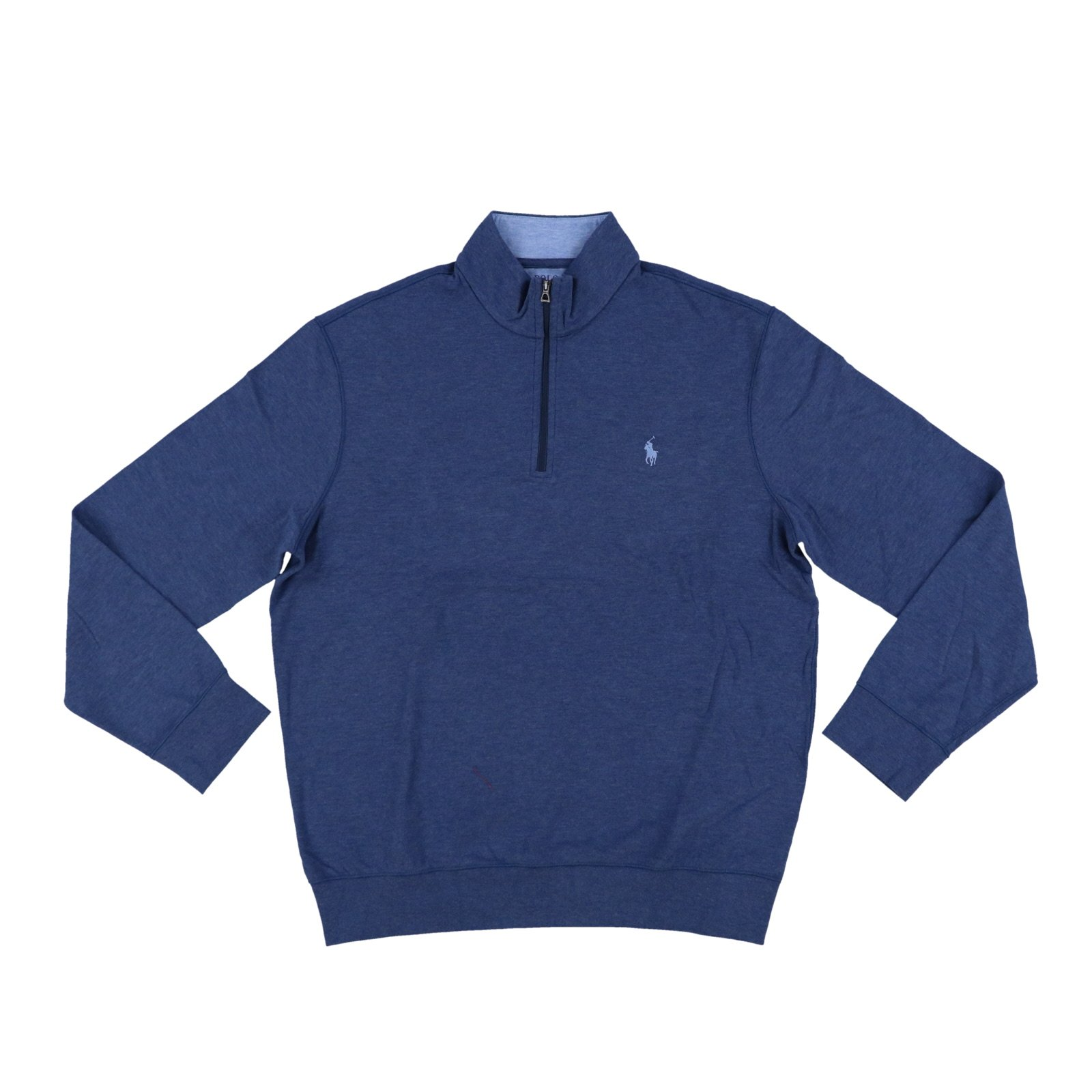 Polo Ralph Lauren Men's Quarter Zip Sweater (Small, Deep Blue)