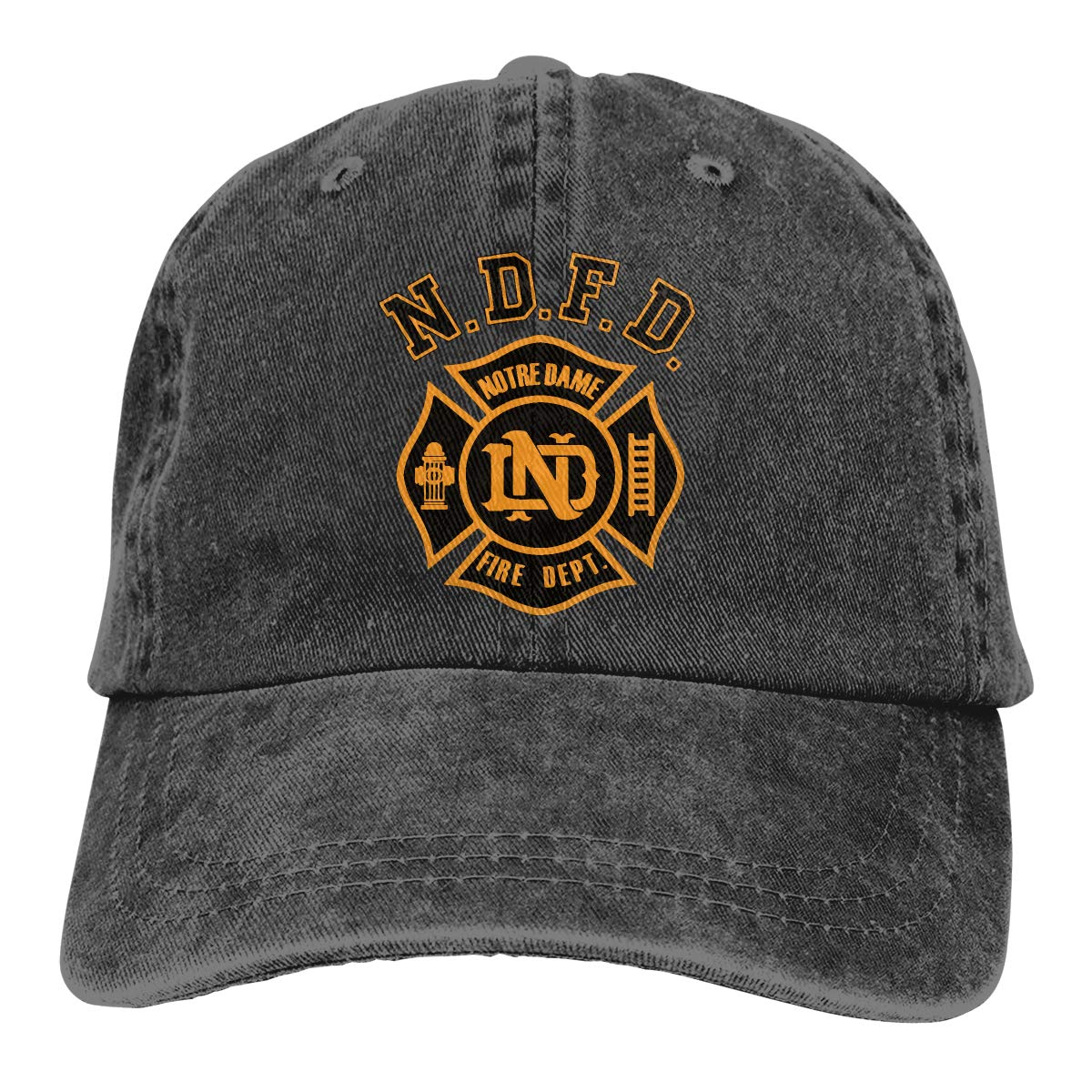 PMGM-C Notre Dame Fire Department Adult Personalize Cowboy Outdoor Sports Hat Adjustable Baseball Cap