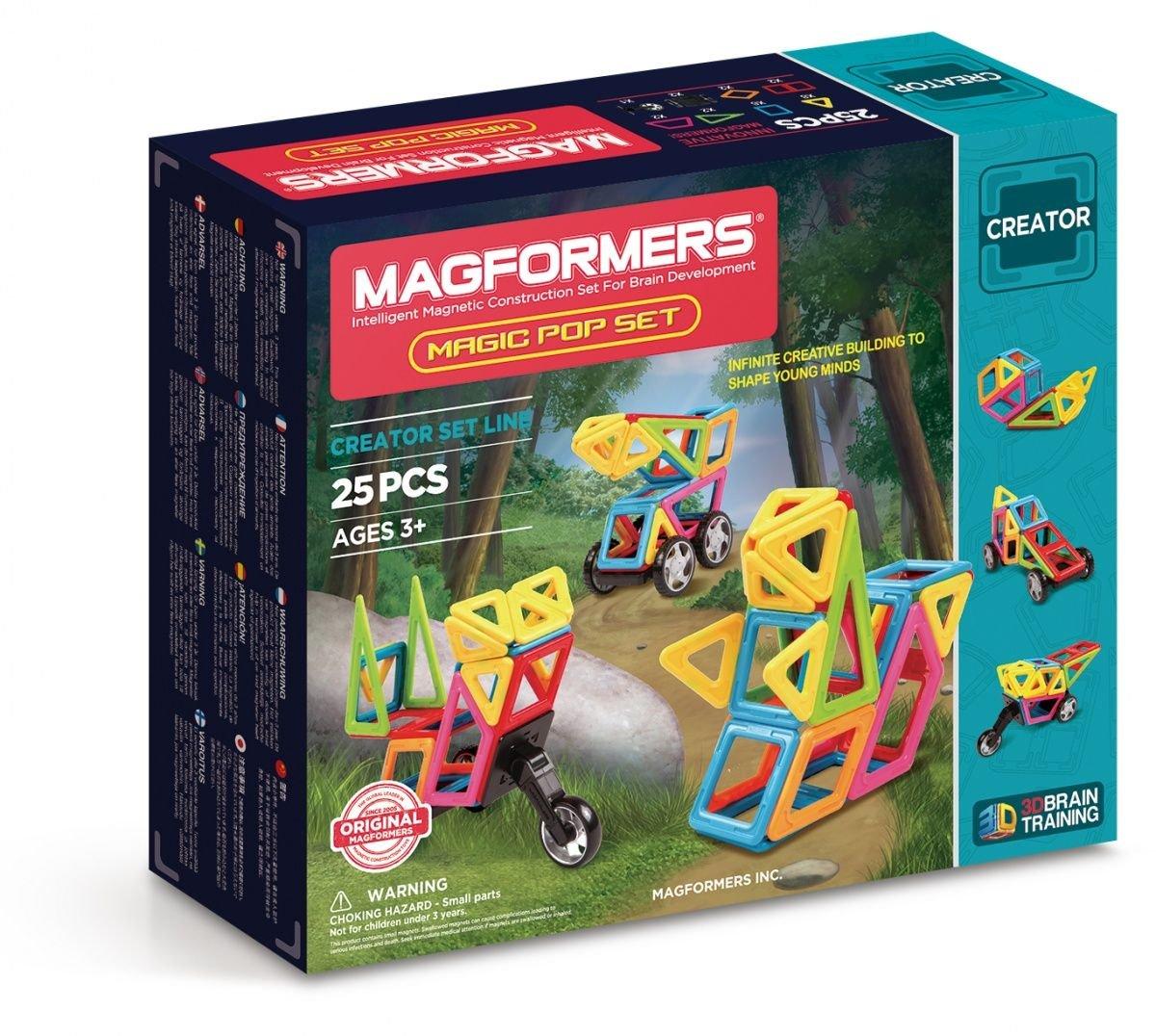 Magformers - Magic Pop, Set de 25 Piezas magnéticas (703005)