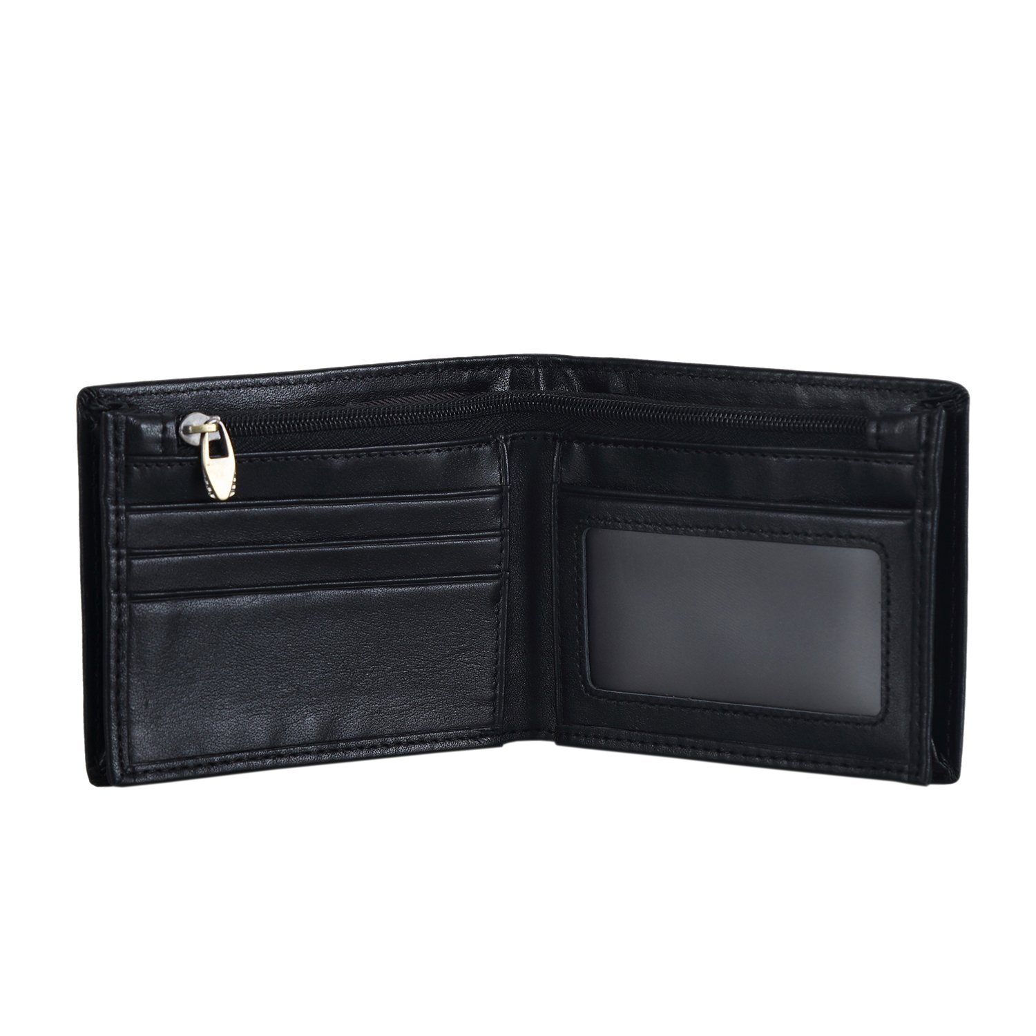 Polare Men's RFID Blocking Napa Real Leather Bifold Wallet With Gift Box (Large)