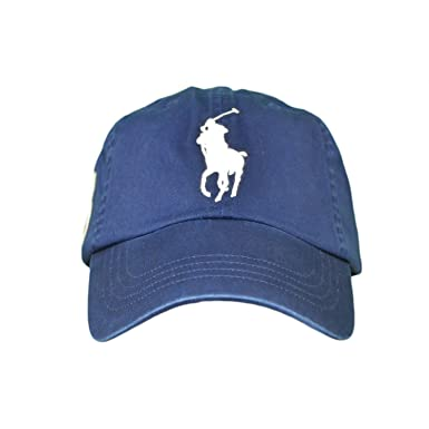 68713fbd3167df Casquette Ralph Lauren Big Poney bleu marine pour homme  Amazon.fr ...