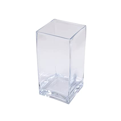 Amazon Lerman Dcor Clear Glass Square Vase 5 Inch By 5 Inch
