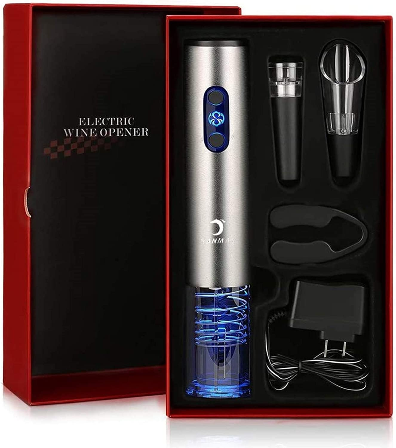 Jf Electric Christmas Gift 2020 Amazon.com: Electric Wine Opener Gift Set, Rechargeable Cordless