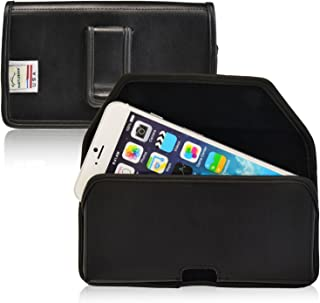 product image for Turtleback Holster Made for Apple iPhone 6 6S with OB Commuter case Black Belt Case Leather Pouch with Executive Belt Clip Horizontal Made in USA