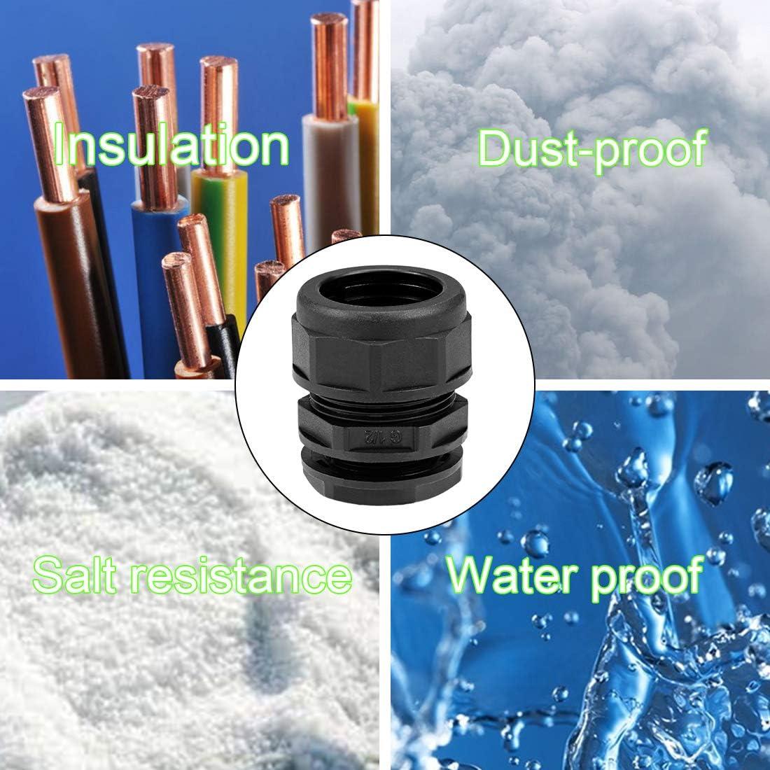 Wellrohrverschraubung AD21,2 Wasserdichtes Kabel Einstellbar Rohrschellen 3 Stk