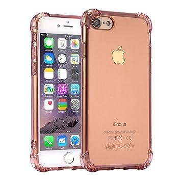 Funda iPhone 7, Carcasa Protectora de Silicona Transparente, con TPU Antigolpes, para iPhone 7 de 4.7