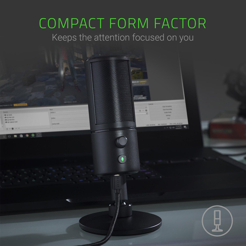 Razer Seiren X - Professional-Grade High-Definition Studio Sound USB Digital Condenser Microphone - Optimized for Streaming Twitch/Youtube - Built-In Shock Mount by Razer (Image #4)