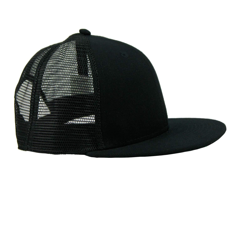 bd6207878937c FREEBIRD99 Flat Bill Trucker Hat Headwear Snapback Mesh Caps for Men & Women  (Black): Amazon.ca: Clothing & Accessories