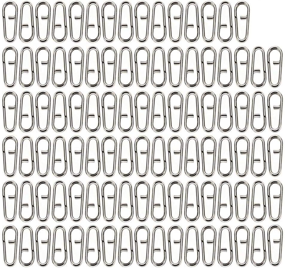 Mehrzweck-Oval Spaltringe aus Edelstahl f/ür Schl/üsselringe S K/öder Angelzubeh/ör-Gr/ö/ße Kathariiy 100 St/ück Oval Spaltringe