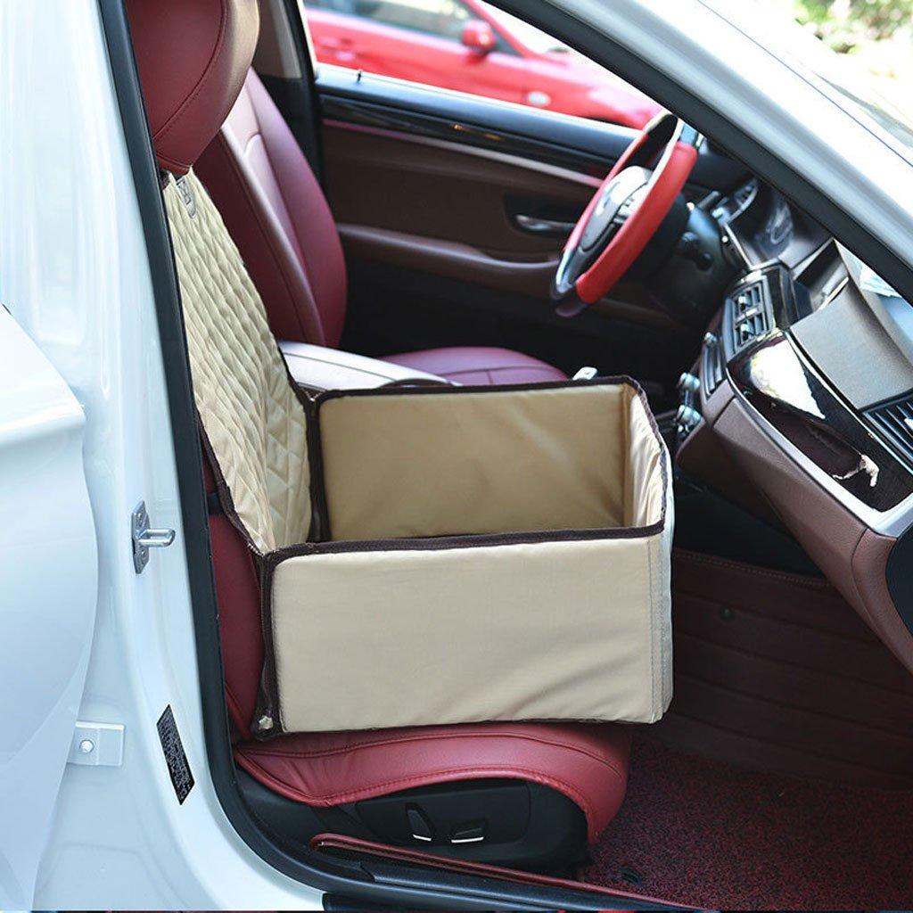 GCHOME Coprisedile per per per auto per cani Ammortizzatore del cane di nylon impermeabile di Singolo Seat di fila anteriore della stuoia dell'automobile dell'animale domestico (colore   Beige) 016fca