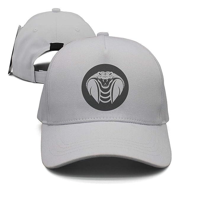 2a0369c60eb Man Black Cobra Head Logo Baseball Cap Snapback Hats at Amazon Men s ...