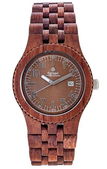 TENSE//La Madera Reloj - Mens Yukon fabricado en Canada Rose Madera - Marrón - Reloj de hombre - Madera de reloj j5200r de BR: Amazon.es: Relojes