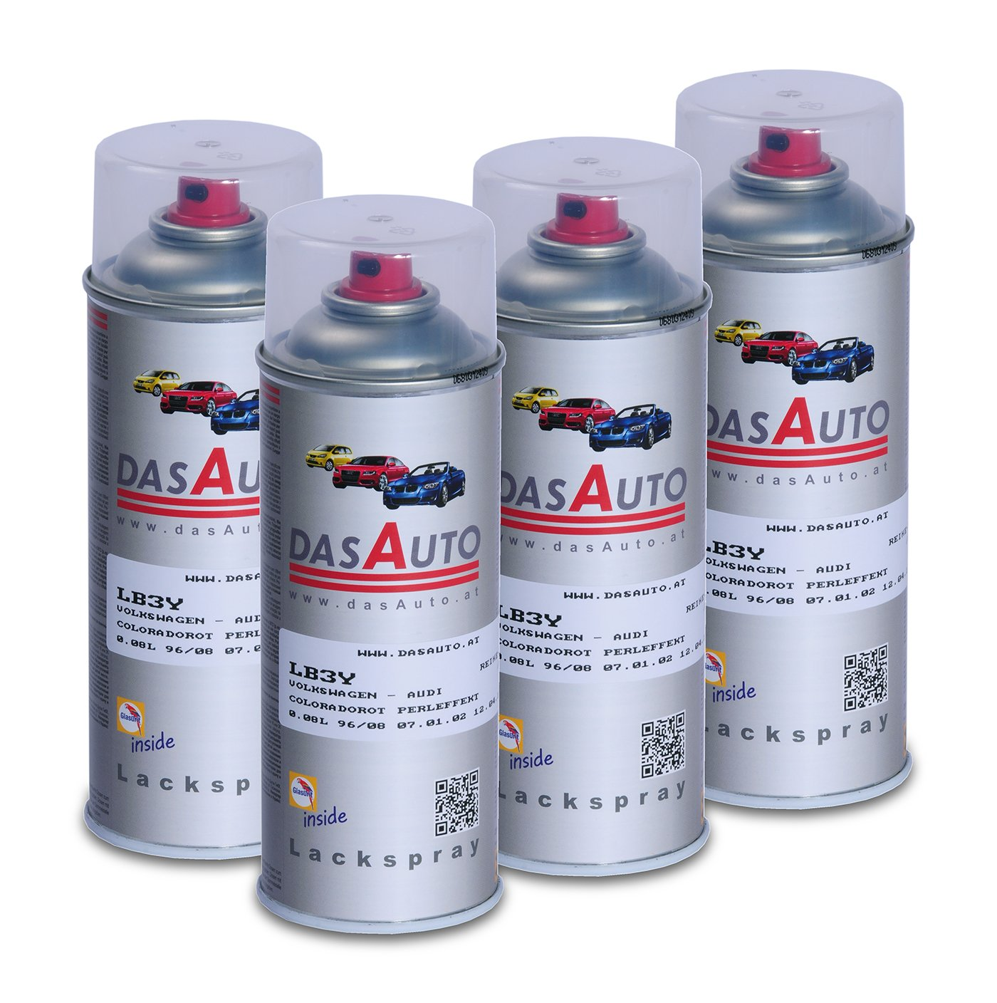 4 x dasauto Vernis Spray glasurit série 55 Inside 400 ml