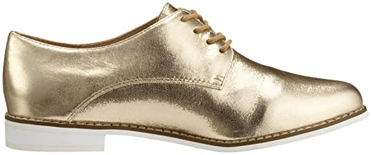 Buffalo London Damen 15P73-1 Mercure Leather Derby, Gold (Gold 24), 40 EU