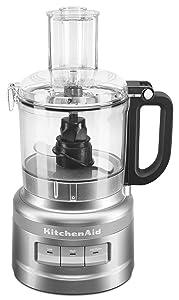 KitchenAid KFP0718CU 7-Cup Food Processor Chop, Puree, Shred and Slice - Contour Silver (Certified Refurbished)
