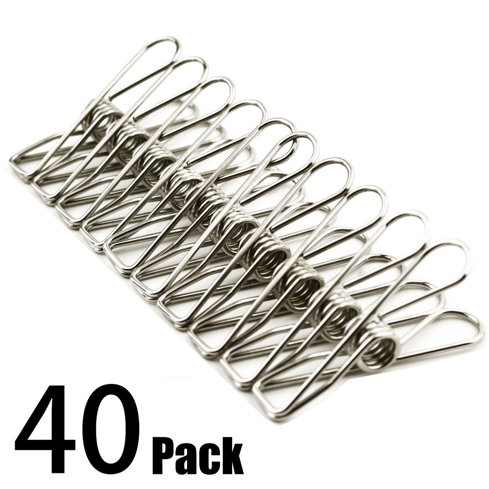 Amazon.com: Clothes pins 40 PACK,2 Inch Multi-purpose Stainless ...