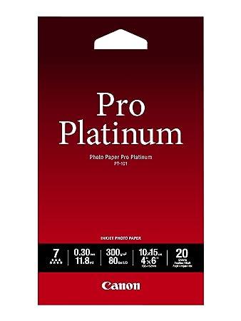 Canon Pt 101 10 X 15 Cm Professionell Fotopapier Platinum 300 Gqm