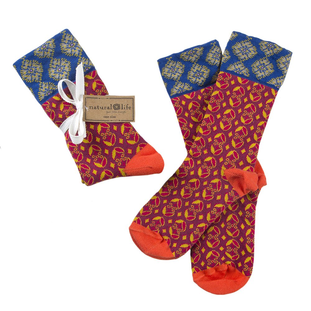 Boho Socks (Red Orange)